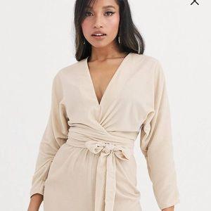 Asos velvet wrap dress